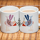 Personalised 'Love Bird' Mugs