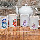 Personalised Russian Doll Family Mug Set