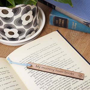 'Mummy' Personalised Wooden Bookmark - desk accessories