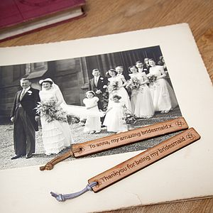 Thank You Bridesmaid Personalised Bookmark - page boy gifts