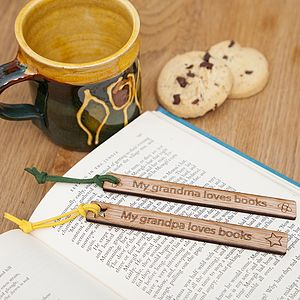 Personalised Grandparent's Wooden Bookmark - stationery