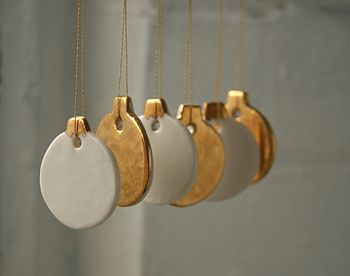 Mini Gold Bauble Decoration Set