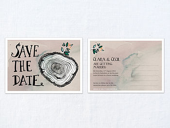 X 30 Hazy Woodland Save The Dates
