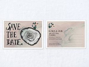 X 30 Hazy Woodland Save The Dates - save the date cards