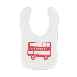 London Bus Screen Printed Bib - bibs