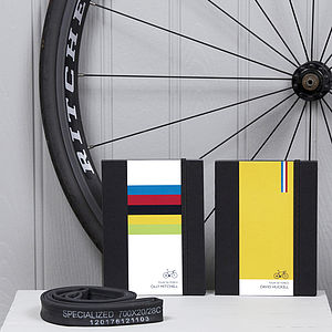 Personalised Road Bike Notebooks - gifts for him