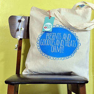 Goodies And Treats Cotton Tote Bag - christmas sale