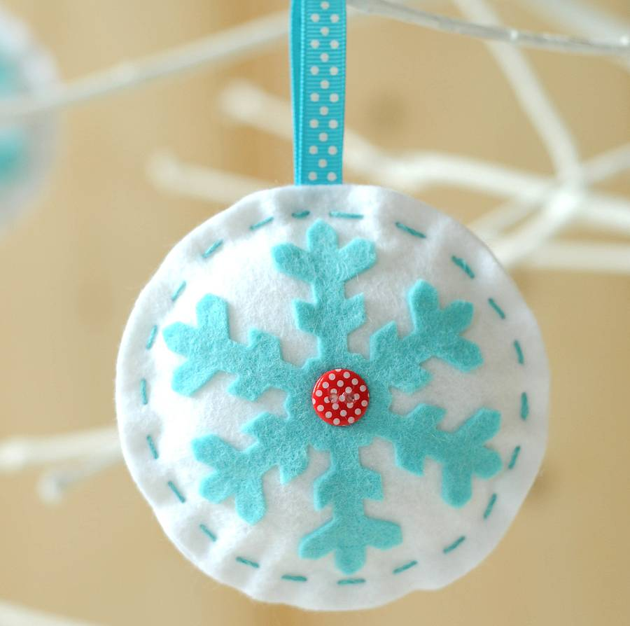 'make & sew' christmas bauble decorations kit by kitty kay ...