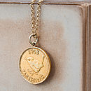Gold Lucky Coin Necklace