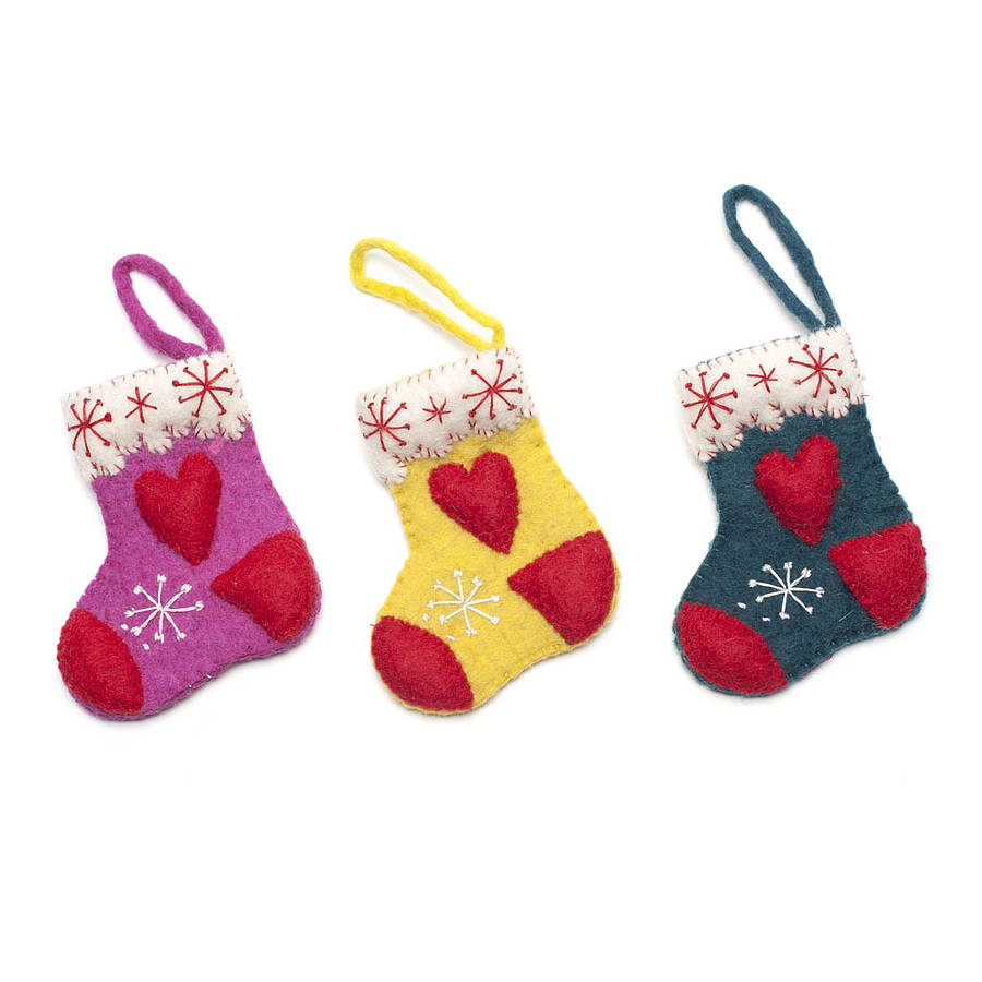Handmade Felt Christmas Decorations