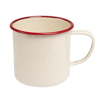 Set Of Vintage Style Enamel Mugs