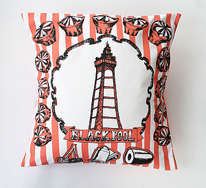 Blackpool Cushion - bedroom