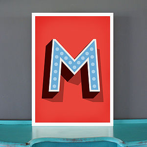 Big Circus Marquee Letter Print - shop by price