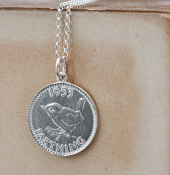 Silver Lucky Coin Necklace
