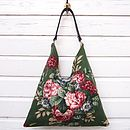 Vintage Fifties Rose Shoulder Tote Bag