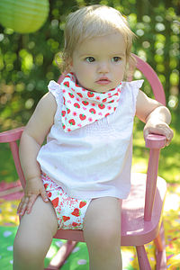 Strawberry Blossom Bandana Dribble Bib