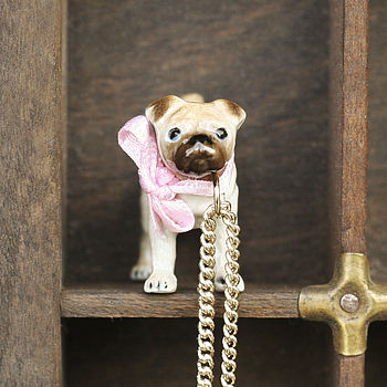 Mini Pug Dog Necklace