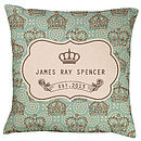 Royal Baby Style Personalised Cushion