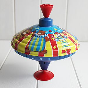Traditional Circus Spinning Top - toys & games