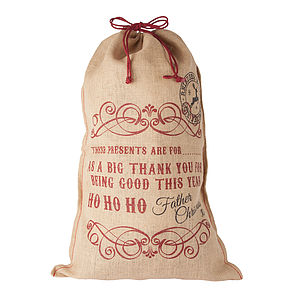 Hessian Christmas Sack - stockings & sacks
