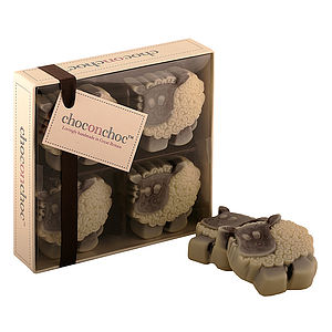 Four Chocolate Sheep - chocolates