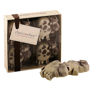 Four Chocolate Cows - chocolates