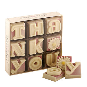 'Thank You' Chocolates - food & drink gifts