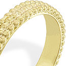 Gold Dotty Wedding Ring