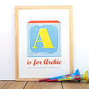 Personalised Vintage Alphabet Name Print