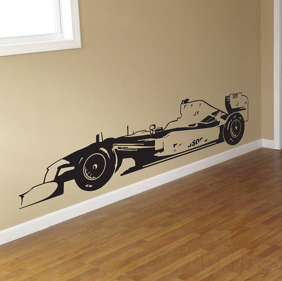 Formula One Racing Car Vinyl Wall Sticker