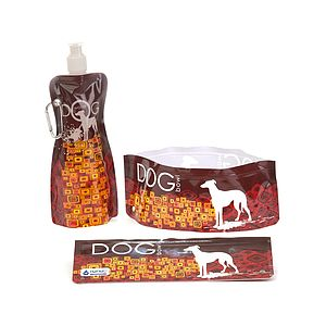 H2FidO Geo Dog Travelling Bowl And Bottle - pet travel accessories