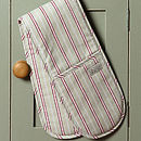 Malvern Grey Red Stripe Double Oven Gloves