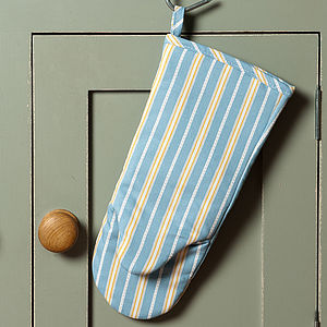 Malvern Lapis Ochre Stripe Ovenmitt - kitchen accessories