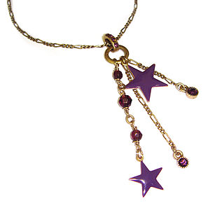 Purple Star Charm Necklace - necklaces & pendants