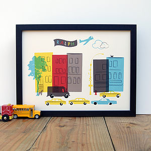 Personalised New York Art Print - pictures & prints for children