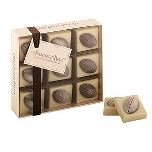 Chocolate Rugby Balls - christmas delivery gifts for him