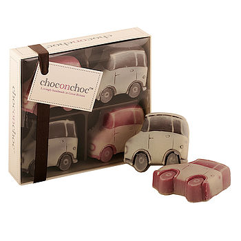 Box Of Four Chocolate Cars