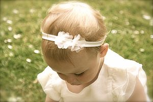 Ophelia Silk Flower Girl, Baby, Christening Hairband - wedding and party outfits
