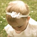 Ophelia Silk Flower Girl, Baby, Christening Hairband