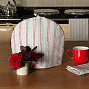 Malvern Grey Red Stripe Tea Cosy