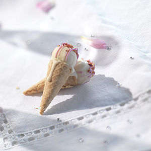 Champagne Chocolate Truffle Ice Cream Cone - edible favours