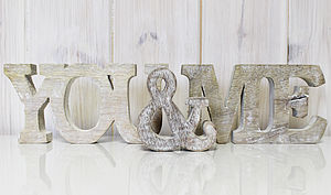 'Me & You' Freestanding Wooden Letters
