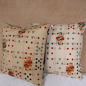 Playing Cards Cushion Cover - patterned cushions