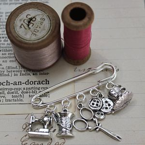 Kitch Make Do And Mend Brooch - pins & brooches
