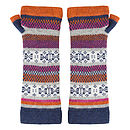 Fair Isle Knitted Wrist Warmers