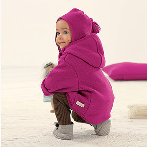 Child's Organic Boiled Merino Wool Coat - clothing