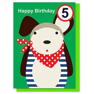 Douglas The Dog Age Five Card