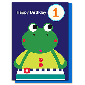 Franny The Frog Age One Card - shop by category