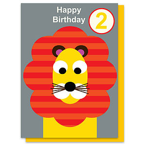 Louis The Lion Age Two Card