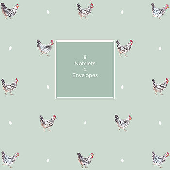 Set Of Eight Chicken Notelets In Wallet
